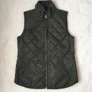 Old Navy Quilted Vest in Army Green